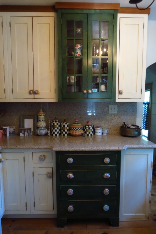 The cabinetry is new, but was designed to suit the architecture of the old house.