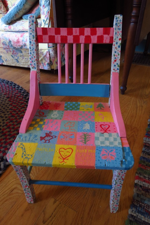 This chair has been handed down through four generations of the family.